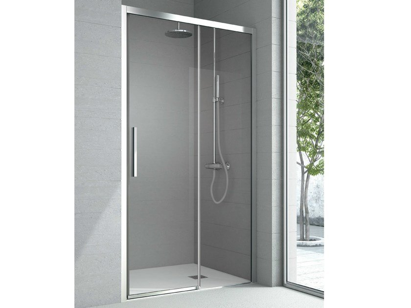 Niche crystal shower cabin with sliding door ASTER | Shower cabin - HAFRO