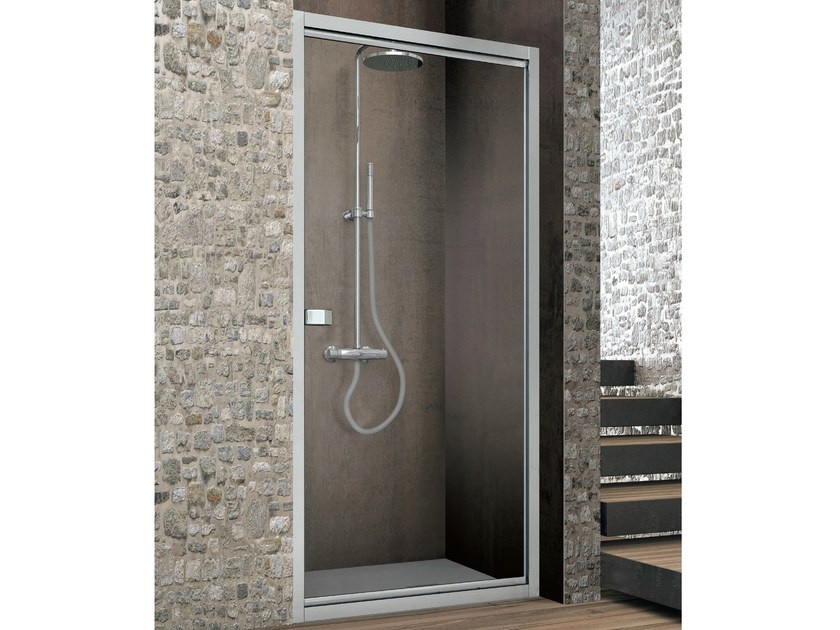 Crystal shower cabin with movable linchpin door ASTER-T - GRUPPO GEROMIN