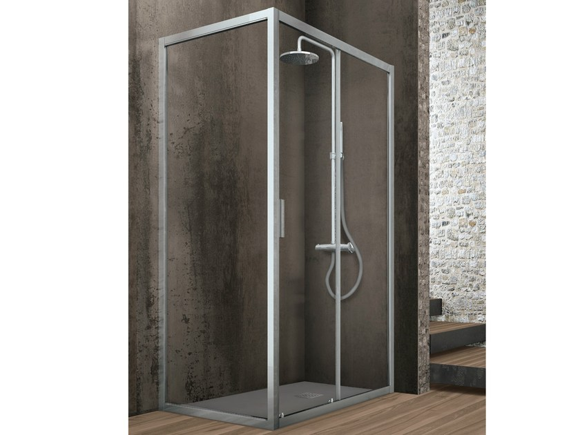 Crystal shower cabin with fixed side ASTER-T | Shower cabin - GRUPPO GEROMIN