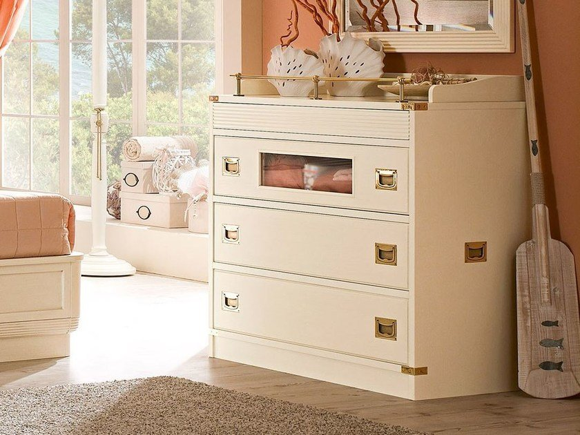 Free standing wooden kids chest of drawers 660 | PIRATA - Caroti