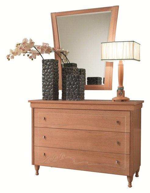 Free standing wooden chest of drawers GOLDLINE ONDA | Chest of drawers - Caroti