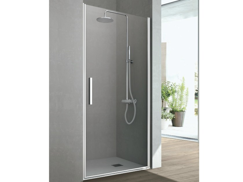 Crystal shower cabin with shutter door LINE | Crystal shower cabin - GRUPPO GEROMIN