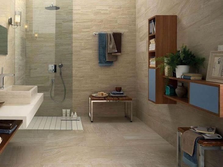 Pavimento/rivestimento in gres porcellanato effetto pietra per interni ed esterni MINERAL D ...