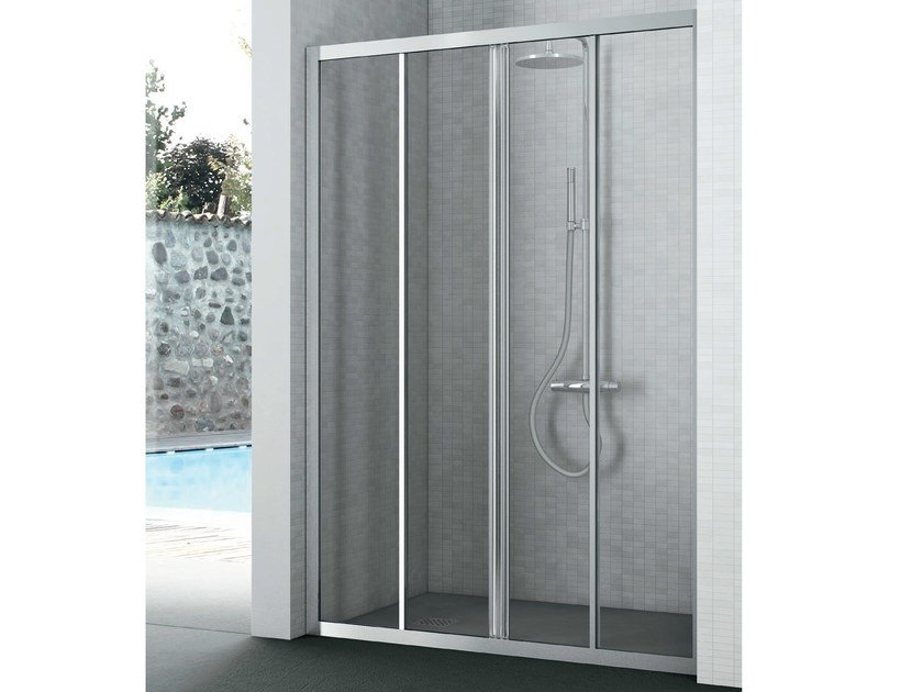 Crystal shower cabin with two sliding doors EASY | Crystal shower cabin by Gruppo Geromin