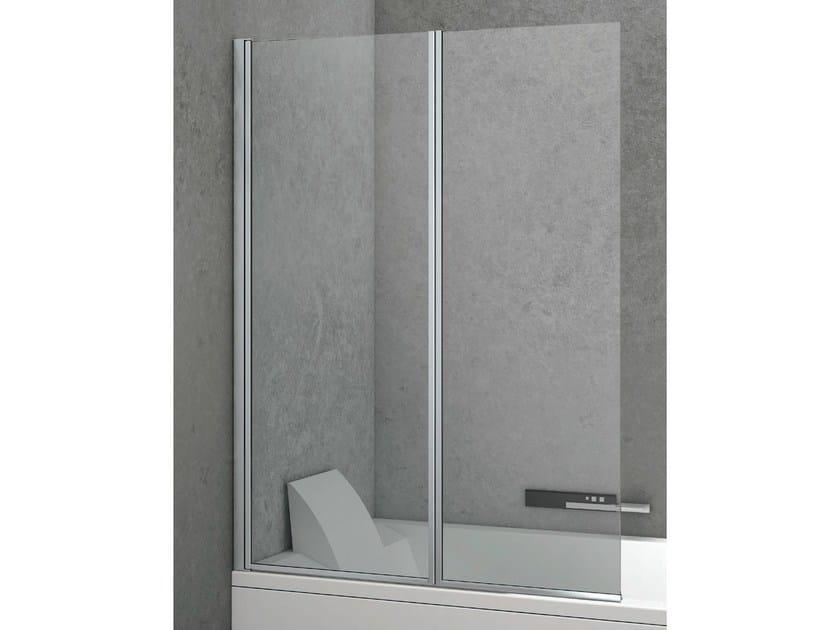 Crystal bathtub wall panel LINE | Crystal bathtub wall panel by Gruppo Geromin