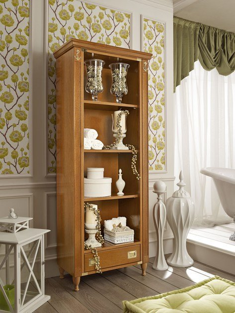 Tall open tall wooden bathroom cabinet 916/A | Open bathroom cabinet by Caroti