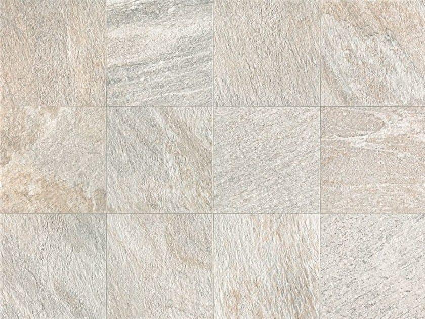 Full-body porcelain stoneware wall/floor tiles with stone effect STONE D Quarzite Bianca - Italgraniti