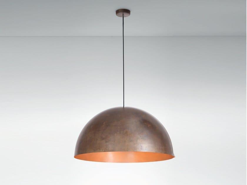 Burnished copper pendant lamp ORU F25 A07 - Fabbian