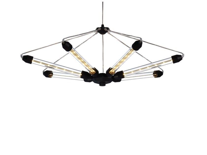 Design LED adjustable aluminium pendant lamp KROON 7 by moooi
