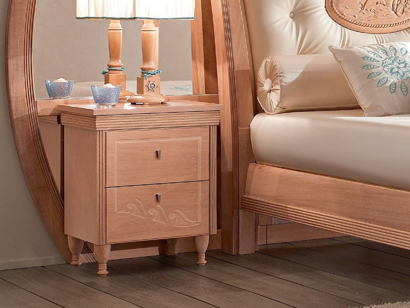 Rectangular wooden bedside table for kids' bedroom 658   ONDA by Caroti