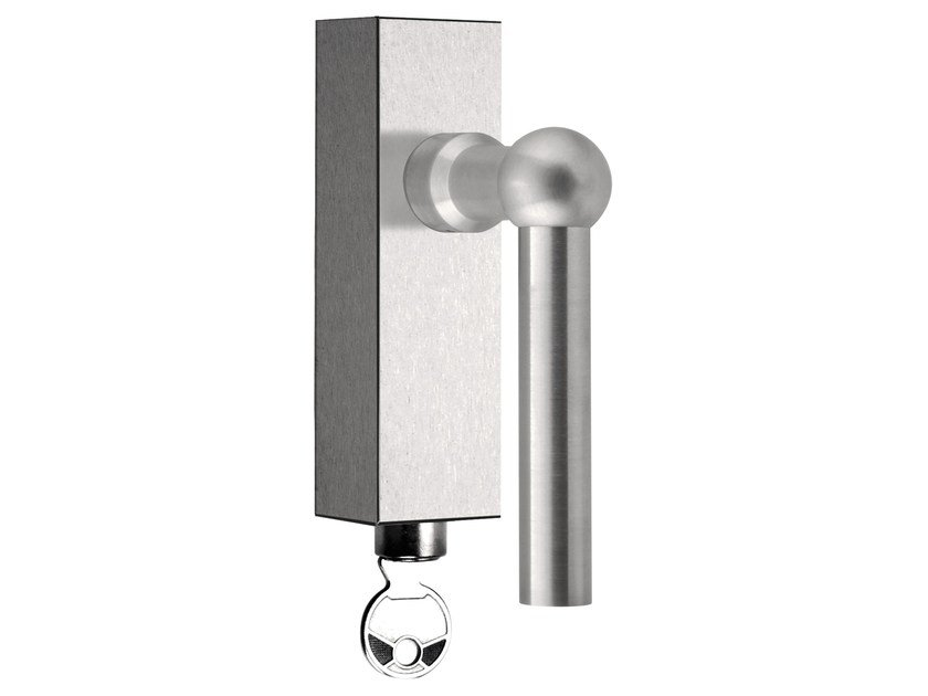 DK stainless steel window handle with lock FERROVIA | Window handle with lock - Formani Holland B.V.