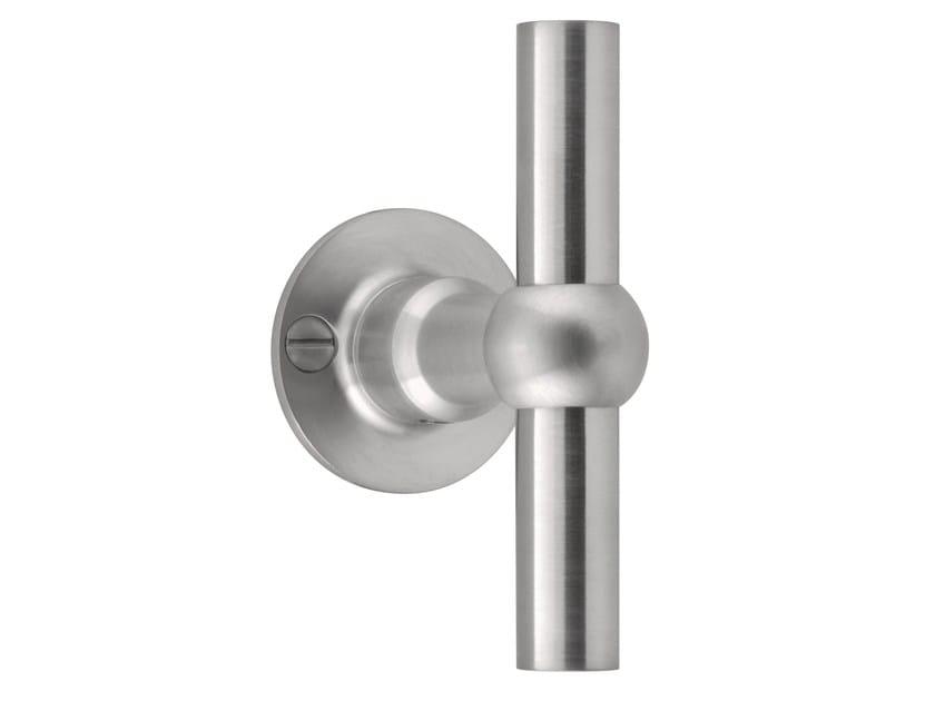 Stainless steel door handle on rose FERROVIA | Door handle on rose - Formani Holland B.V.