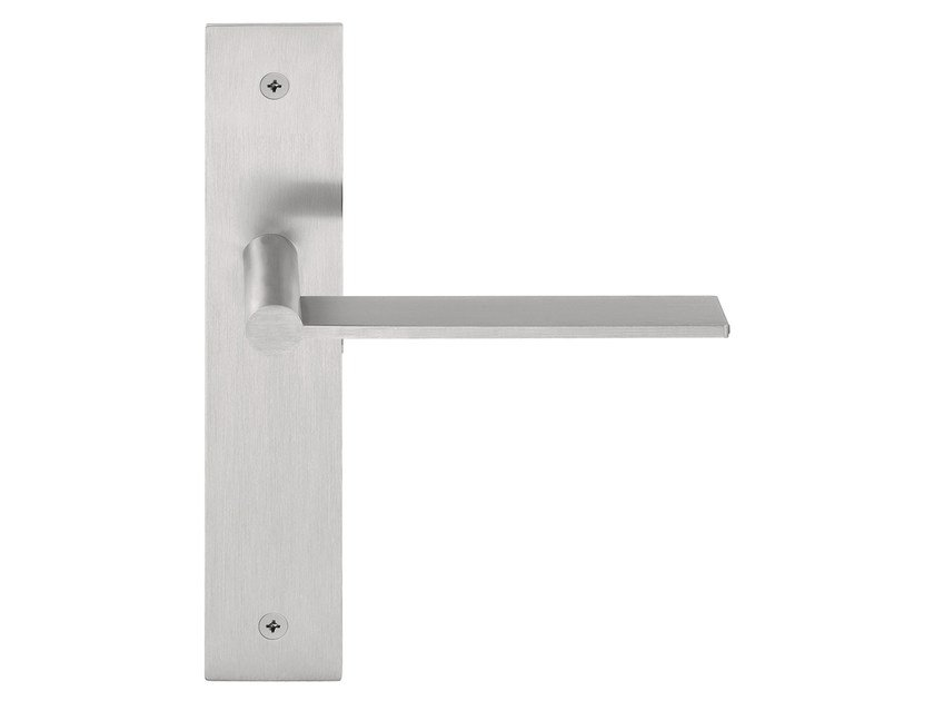 Stainless steel door handle on back plate EDGY | Door handle on back plate - Formani Holland B.V.