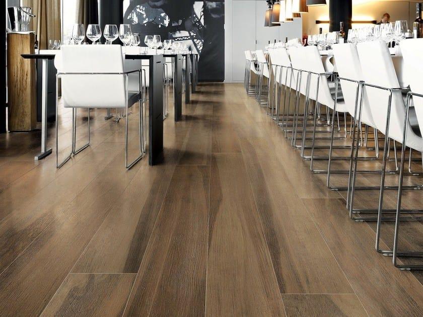 Pavimento in gres porcellanato effetto legno maxiwood noce for Pavimento senza fughe
