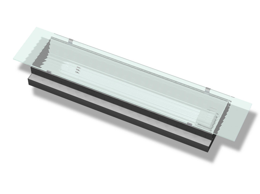 Recessed Lamp for false ceiling TROLDTEKT TRANSVERSAL by Troldtekt