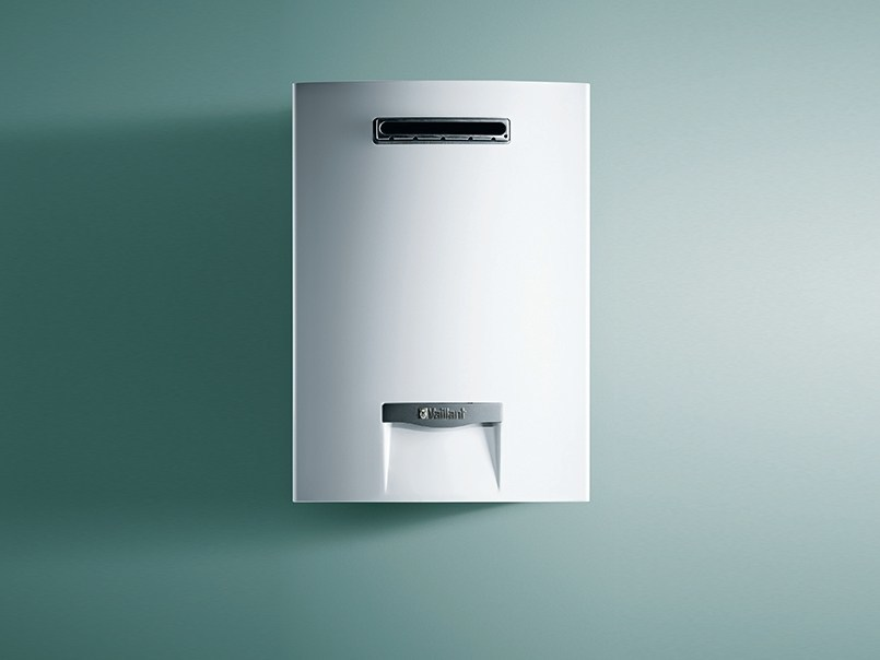 Gas water heater outsideMAG - VAILLANT