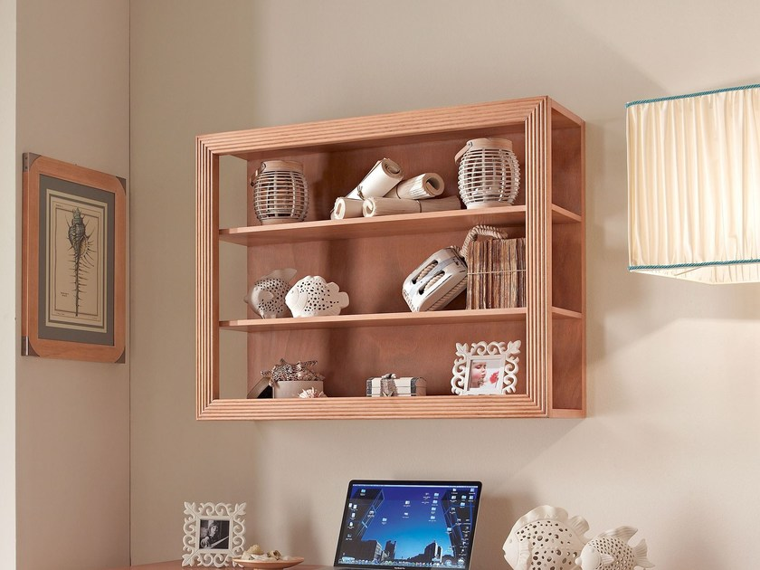 Floating wooden bookcase 955 | MILLERIGHE - Caroti