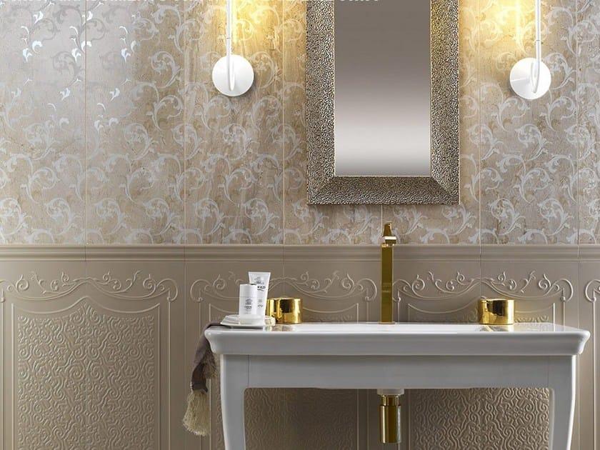 Rivestimento in ceramica a pasta bianca effetto marmo marmi imperiali wall daino reale by - Rivestimento bagno effetto marmo ...