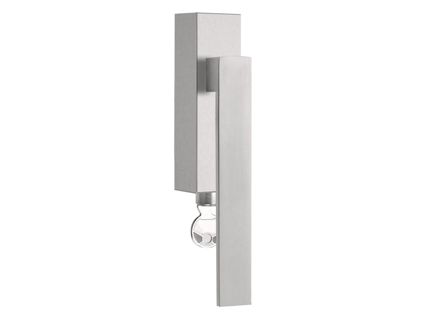 DK stainless steel window handle with lock SQUARE | Window handle with lock - Formani Holland B.V.