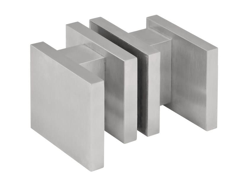 Stainless steel glass door handle SQUARE | Glass door handle - Formani Holland B.V.