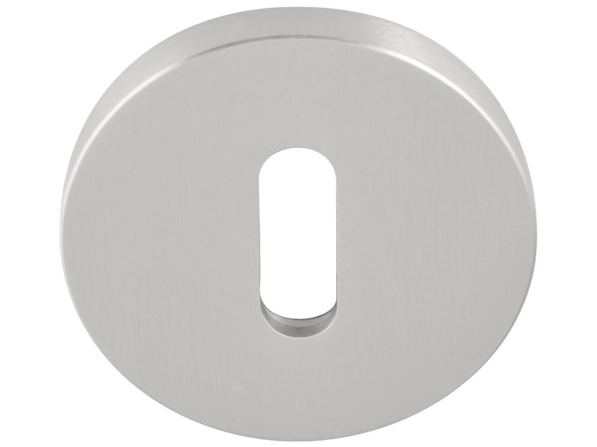 Round stainless steel keyhole escutcheon FOLD | Brushed steel keyhole escutcheon - Formani Holland B.V.