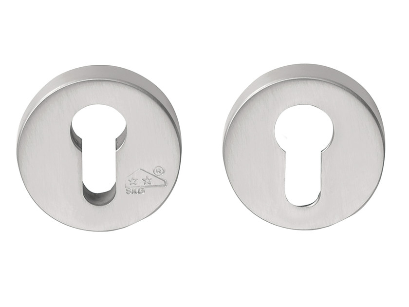 Round brushed steel keyhole escutcheon FOLD | Round keyhole escutcheon - Formani Holland B.V.