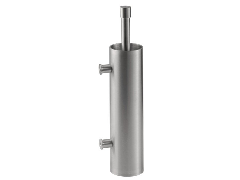 Wall-mounted stainless steel toilet brush ONE BATHWARE | Wall-mounted toilet brush by Formani