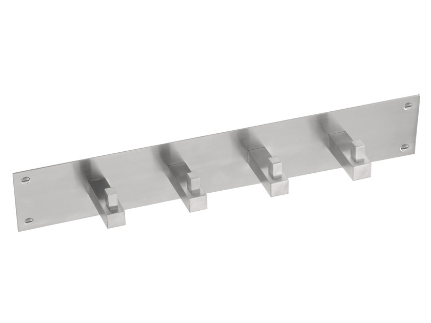 Wall-mounted stainless steel coat rack SQUARE | Wall-mounted coat rack - Formani Holland B.V.