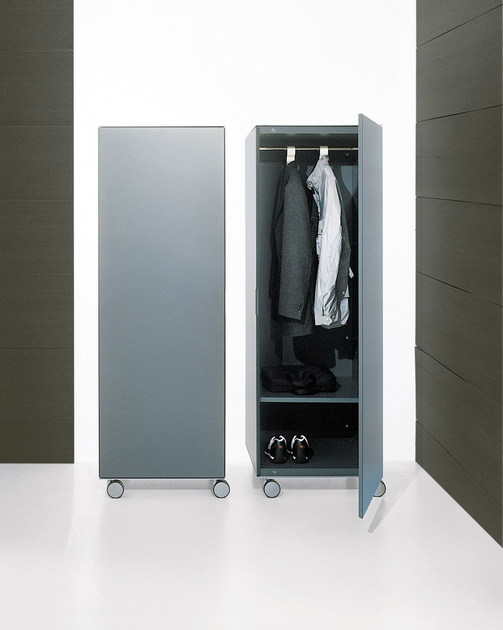 Mobile contenitore con ante su ruote rollerbox emmebi - Porta abiti con ruote ...