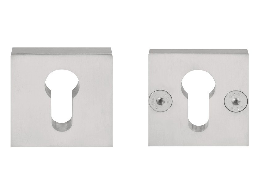 Square stainless steel keyhole escutcheon SQUARE | Stainless steel keyhole escutcheon by Formani