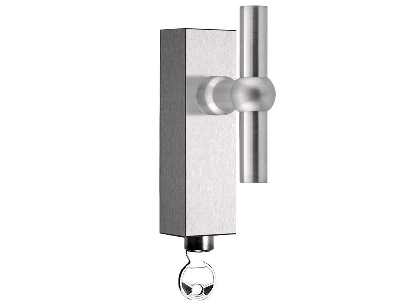 Stainless steel Cremone handle with lock FERROVIA | Cremone handle with lock - Formani Holland B.V.