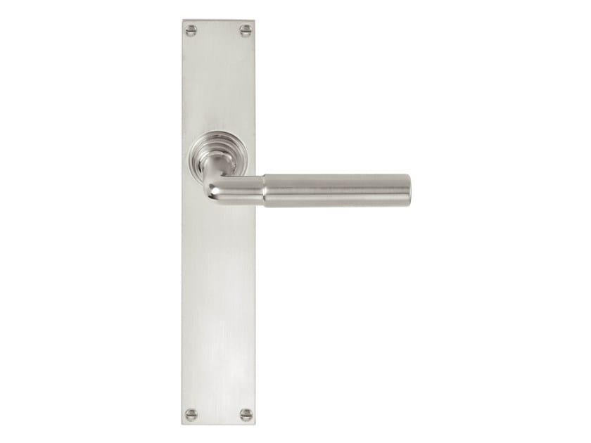 Nickel door handle on back plate TIMELESS 1924 | Door handle on back plate - Formani Holland B.V.