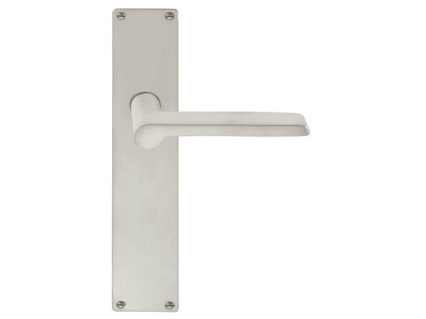 Nickel door handle on back plate TIMELESS 1927   Door handle on back plate - Formani Holland B.V.