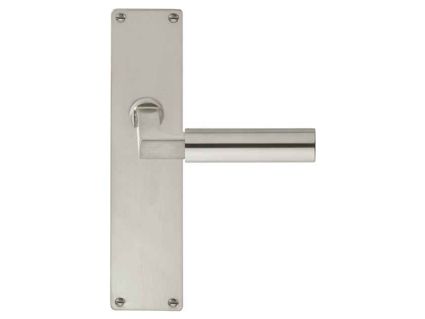 Nickel door handle on back plate TIMELESS 1930 | Nickel door handle - Formani Holland B.V.