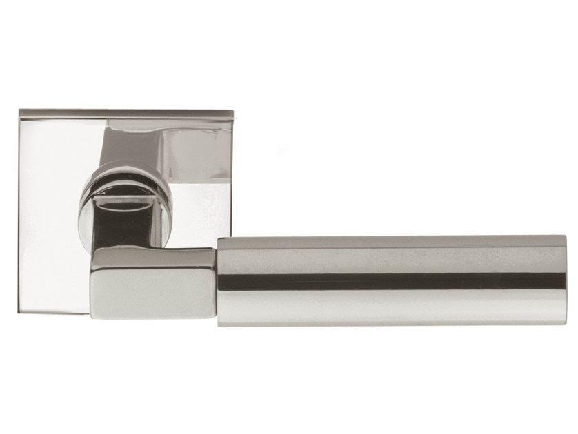 Nickel door handle on rose TIMELESS 1930 | Door handle on rose by Formani