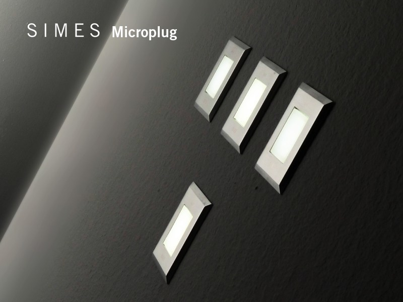 LED wall-mounted foot- and walkover light MICROPLUG/RIGHELLO | LED Built-in lighting - SIMES