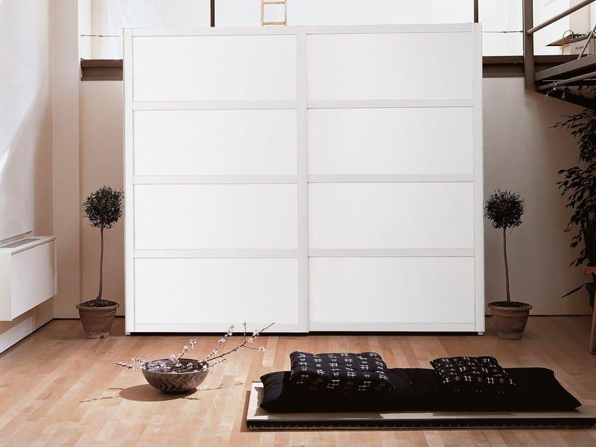 Lacquered wooden wardrobe with sliding doors YOSHIDA by EmmeBi