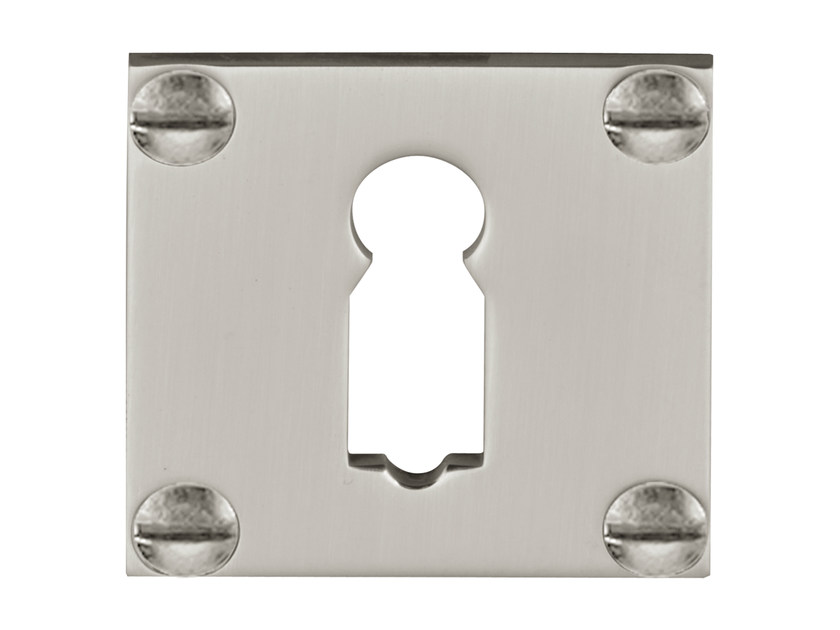 Square brass keyhole escutcheon TIMELESS | Square keyhole escutcheon - Formani Holland B.V.