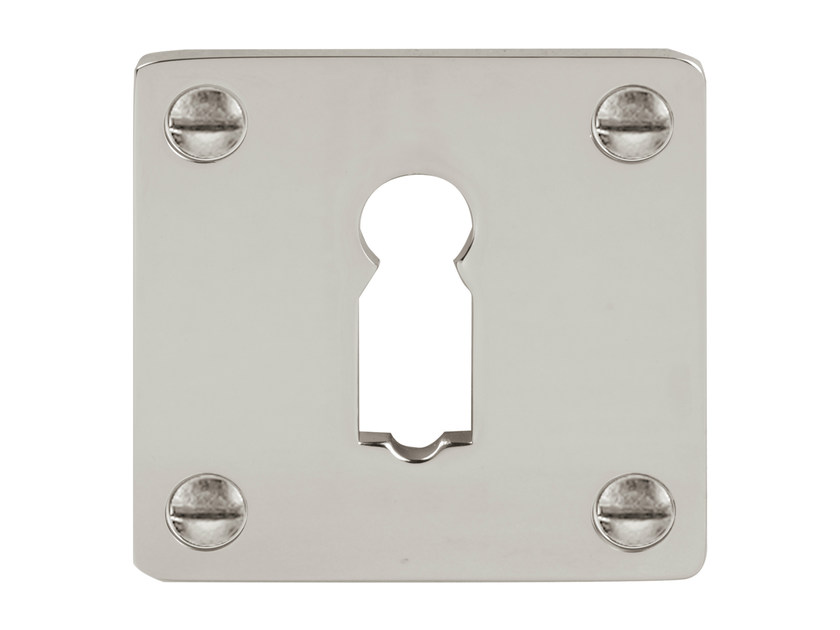 Square brass keyhole escutcheon TIMELESS | Square keyhole escutcheon - Formani Holland B.V.