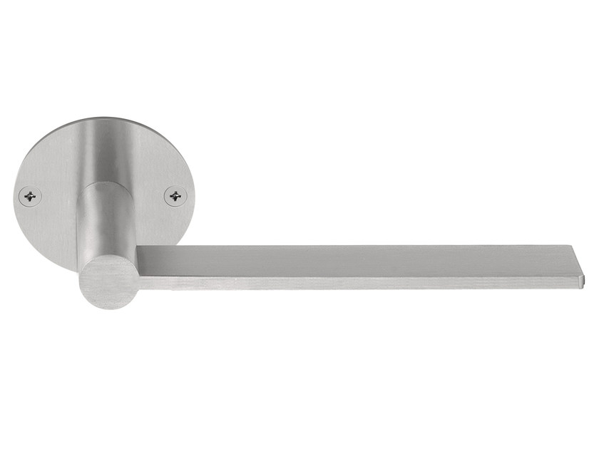 Stainless steel door handle on rose EDGY | Door handle on rose - Formani Holland B.V.