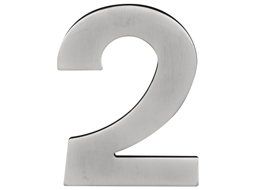 Stainless steel house number BASIC   House number - Formani Holland B.V.