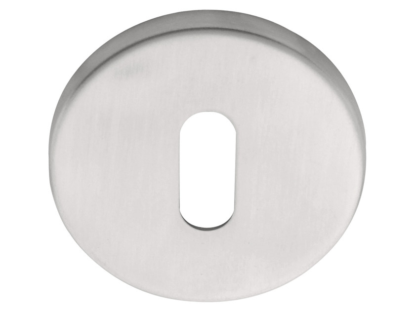 Round stainless steel keyhole escutcheon BASIC | Round keyhole escutcheon - Formani Holland B.V.