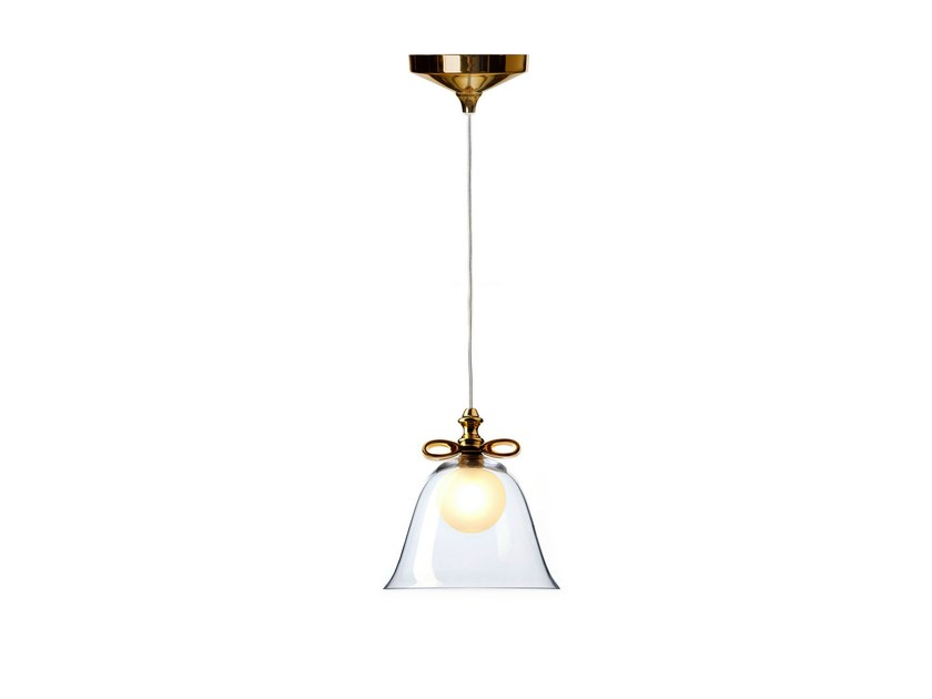 Blown glass pendant lamp BELL LAMP by moooi