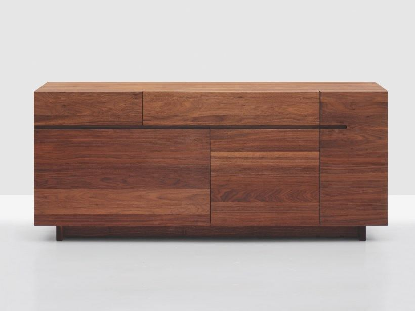 Wooden sideboard with doors with drawers SIDE - ZEITRAUM