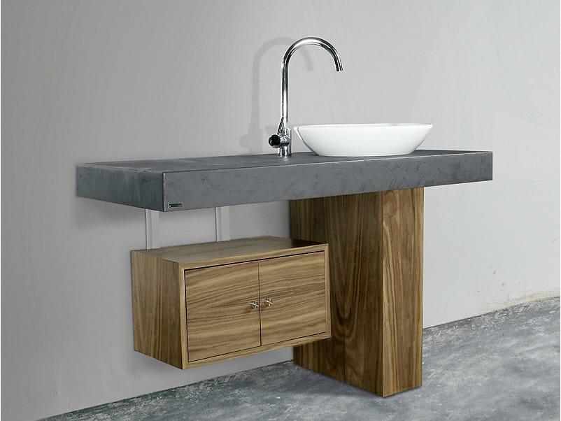 701 mueble bajo lavabo by wissmann raumobjekte - Meuble salle de bain asymetrique ...