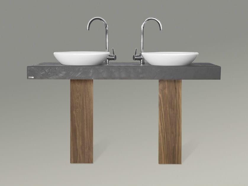 Double washbasin countertop 703 | Washbasin countertop - Wissmann raumobjekte