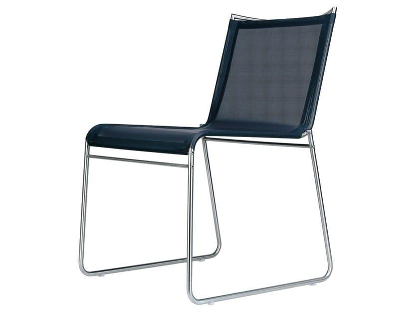 Sled base Vinytex garden chair CLIP | Sled base chair - Bivaq