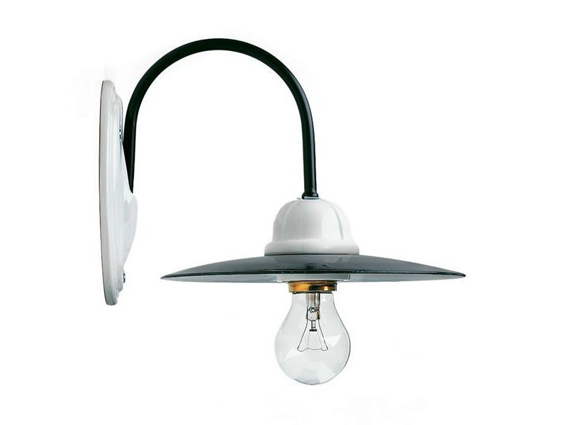 Ceramic wall lamp with fixed arm 119050 | Wall light enamel/ceramic - THPG
