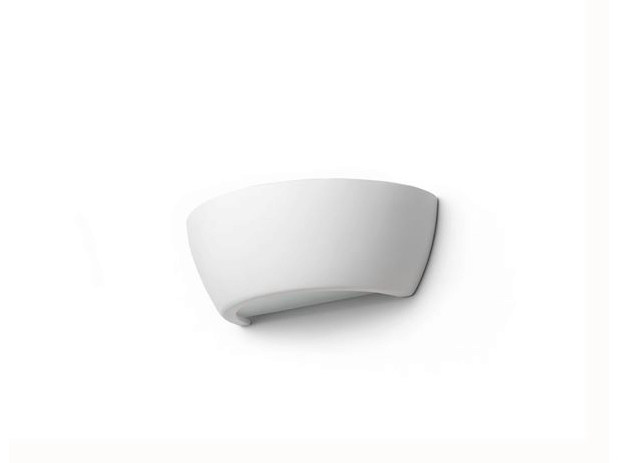 Indirect light ceramic wall light 182419 | Wall lamp half shell by THPG