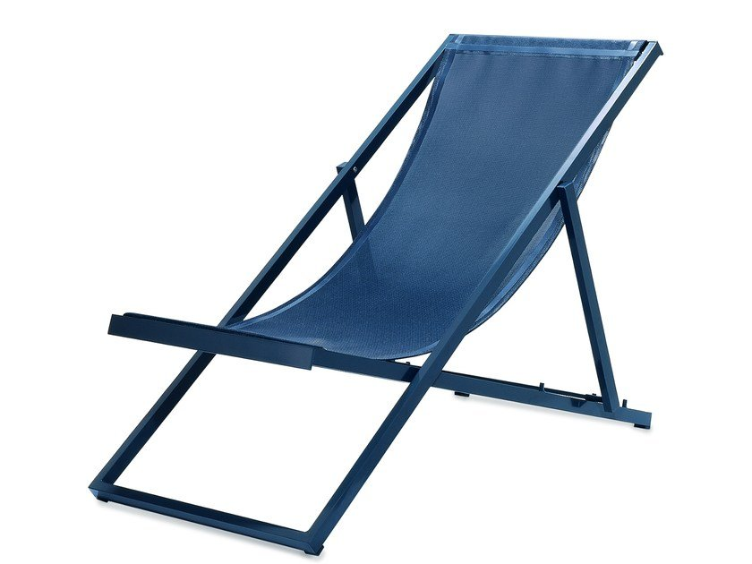 Folding recliner Vinytex deck chair CLUB | Deck chair - Bivaq